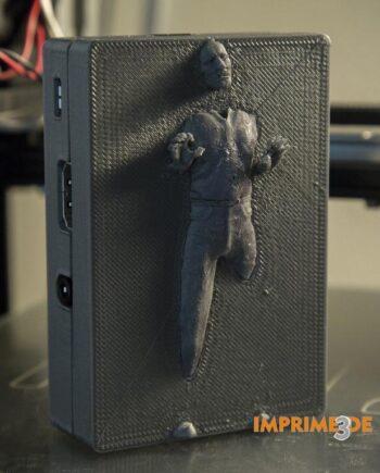 Hans Solo en carbonita para Raspberry - imprimetresde