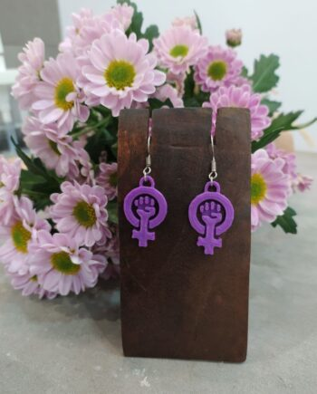 Pendientes Woman Power I3D