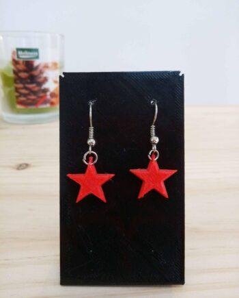 Brincos Estrela Vermella I3D