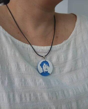 Colar Rosalía Azul I3D