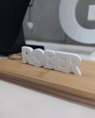 Chaveiro Personalizado ROBER branco