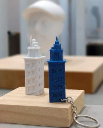 Chaveiro Torre de Hércules I3D