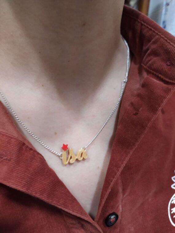 Collar Personalizado Estrella Roja