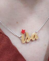 Collar Personalizado con Estrella Roja BACK